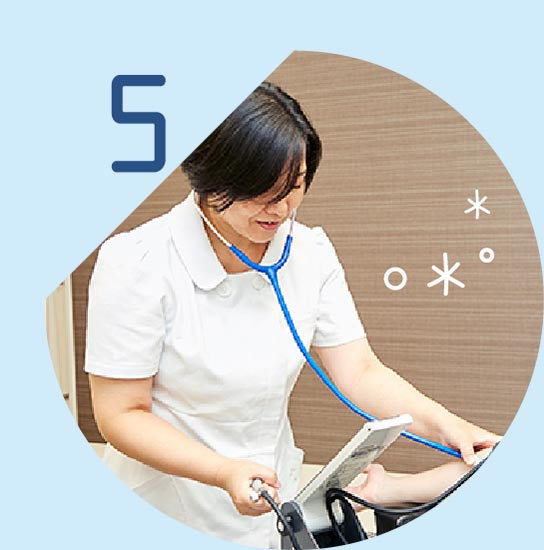 健康診断、各種予防接種、禁煙外来、睡眠時無呼吸症候群簡易検査なども対応。