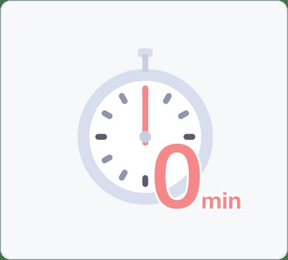 オンライン診療は移動時間、待ち時間がゼロ