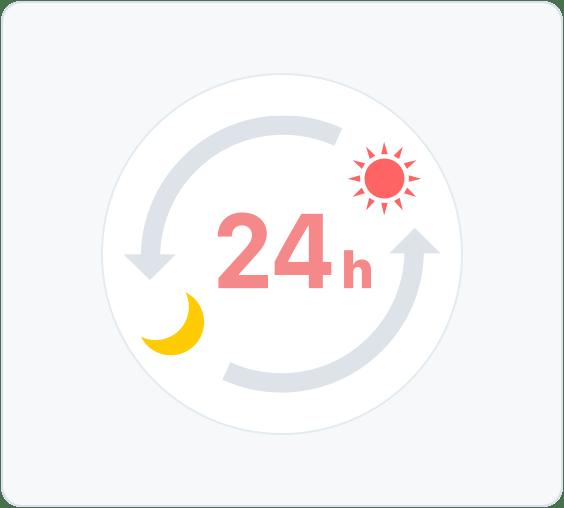 オンライン診療は24時間いつでも予約可能